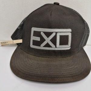 EXO KPOP BLACK TRUCKER HAT